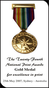 National Print Awards with Gold Medal