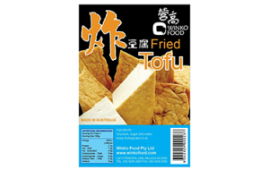 Fried tofu labels