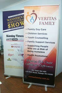 Veritas Family Pull Up Banner
