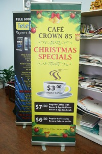 Cafe Crown 85 Pull Up Banner