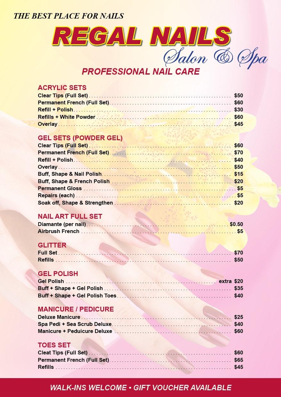 Regal Nails A5 St Graphic Design And Colour Print
