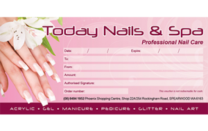 Today nails and spa voucher
