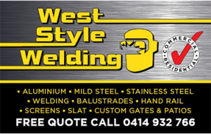 West style welding business cards
