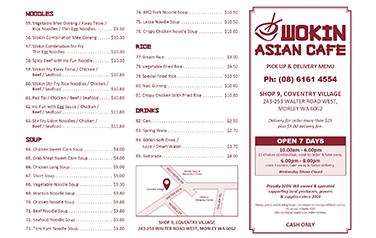 Wokin Asian Cafe A4