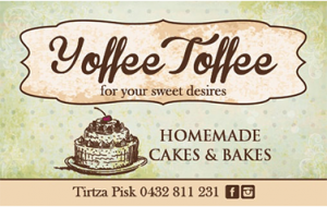Yoffee toffee business cards