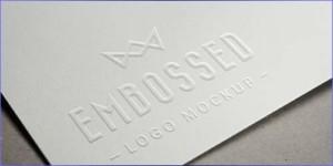 embossed logo