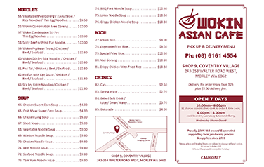 Wokin Asian Cafe A4